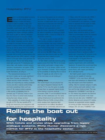 Rolling the boat out for hospitality - CSI Magazine