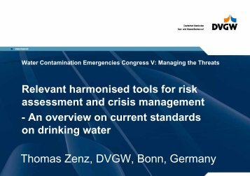 Relevant harmonised tools for risk assessment and crisis management