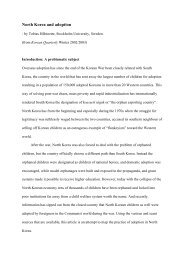North Korea and adoption.pd - Tobias Hübinette