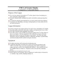 2012 Competitive Volleyball Rules - Youth Sports YMCA