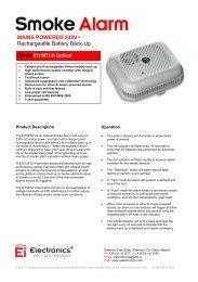 Ei156TLH Optical Smoke Alarm, Mains Powered ... - Ei Electronics