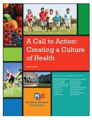 Creating a Culture of Health - American Hospital Association