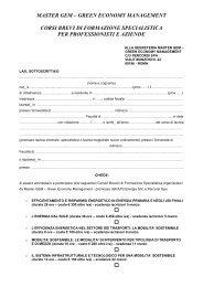 Modulo iscrizione Corsi Brevi per professionisti e aziende_ Master ...
