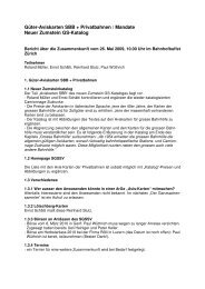 Bericht über die Zusammenkunft vom 26. Mai 2009 betr. Avis-Karten ...