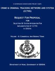 Odisha - CCTNS - National Crime Records Bureau