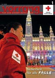 Vorrang, Ausgabe 1/2012 - Rotes Kreuz