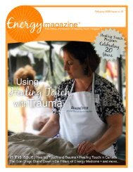February 2009: Using Healing Touch with Trauma - Energy Magazine