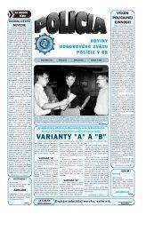 POLICIA 06 2004 a.qxd - Odborový zväz polície v Slovenskej ...