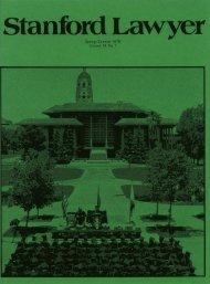 Spring/Summer 1979 – Issue 23 - Stanford Lawyer - Stanford ...
