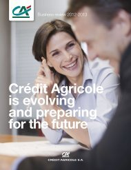 Crédit Agricole is evolving and preparing for the ... - Le Crédit Agricole