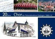 Individuell - Sicher - Zuverlässig - Chor der Polizeidirektion ...