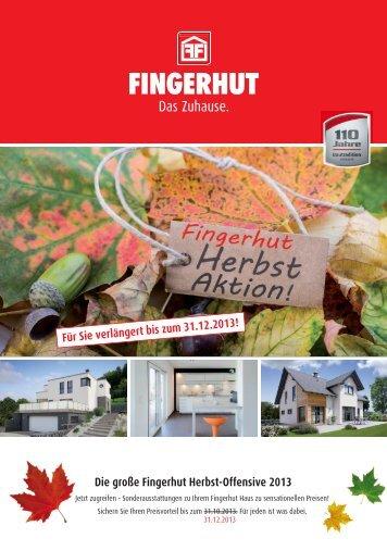 Die große Fingerhut Herbst-Offensive 2013 Für Sie verlängert bis ...