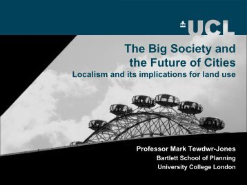The Big Society and the Future of Cities
