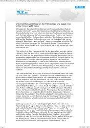 Unterschriftensammlung für das Ohmgebirge und gegen neue ...