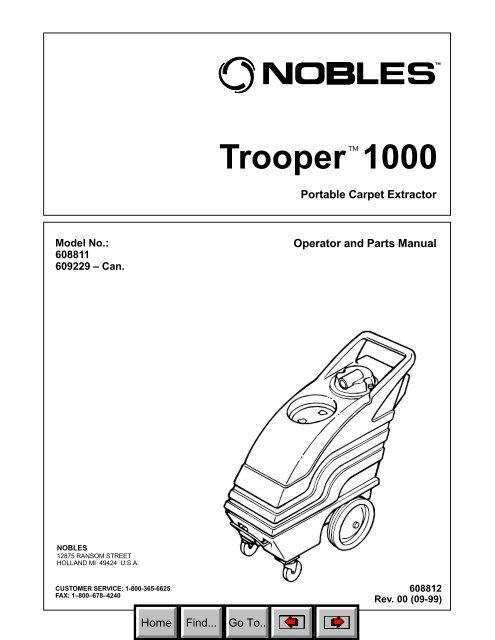 Nss Stallion 8sc Carpet Extractor Parts Manual Carpet