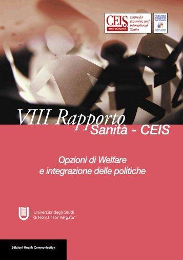 VIII Rapporto - Presentazione Rapporto Sanità