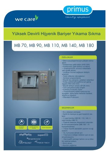 MB 70, MB 90, MB 110, MB 140, MB 180