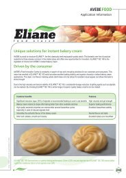 Unique solutions for instant bakery cream Driven by the ... - Plusto.com