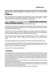Allegati Continuità Assist.pdf - Bollettino Ufficiale della Regione ...
