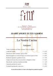 La Nostra Cucina - Ristorante Pizzeria Filù