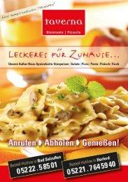 Adobe Photoshop PDF - Pizzeria TAVERNA in Bad Salzuflen und in