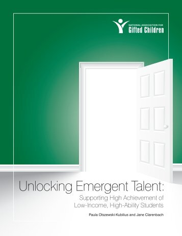 Unlocking Emergent Talent: - NAGC