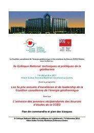 5e Colloque National: techniques et politiques de la géothermie Les ...