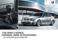 THE BMW 5 SERIES. ORIGINAL BMW ACCESSORIES. a - BMW.com
