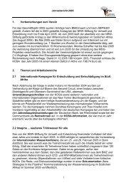 Geschäftsbericht 2005 - Koordination Südliches Afrika (KOSA)