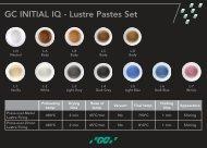 GC INITIAL IQ - Lustre Pastes Set - laboshop