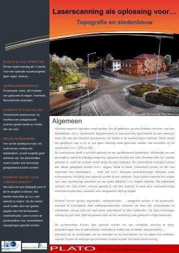 Laserscanning als oplossing voor… Topografie en stedenbouw