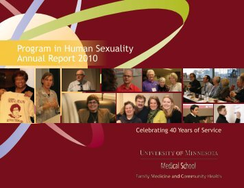 PHS Annual Report 2010 - Program in Human Sexuality - University ...
