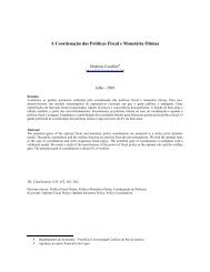 A Coordenação das Políticas Fiscal e Monetária Ótimas - Anpec