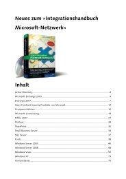 Buchupdate Integrationshandbuch Microsoft Netzwerk
