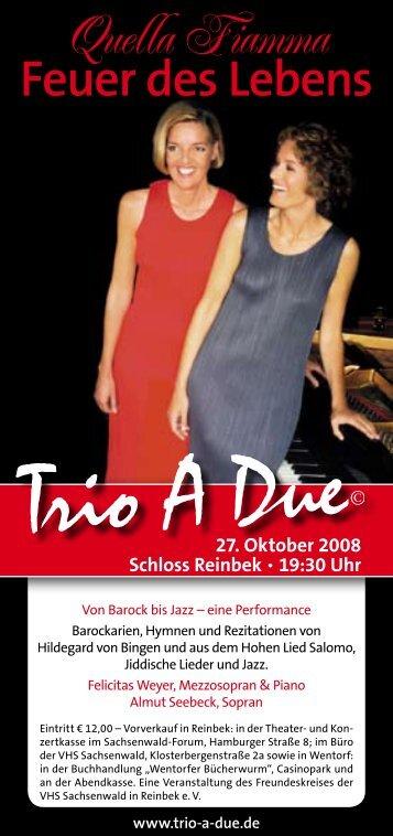 Feuer des Lebens - Trio A Due