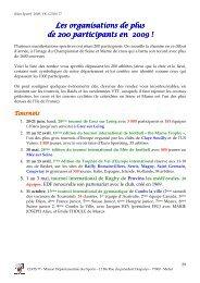 Bilan sportif 2009 - 2ème partie - CDOS 77