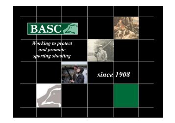 Working to protect and promote sporting shooting ... - Andy Wightman