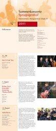 2011 Sommerkonzerte Synagogenhof - Trio A Due