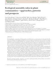 Ecological assembly rules in plant communities