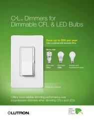 C•L™ Dimmers for Dimmable CFL & LED Bulbs - Lutron