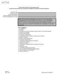 Amway sQAC Audit Checklist(drug)QFH017