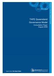 TAFE Queensland Governance Model Consultation Paper [PDF ...