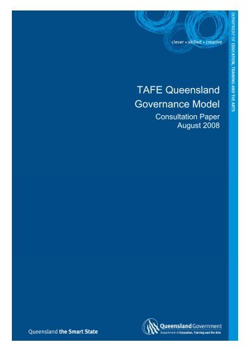 TAFE Queensland Governance Model Consultation Paper [PDF ...