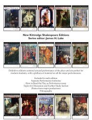New Kittredge Shakespeare Editions Series ... - Focus Publishing