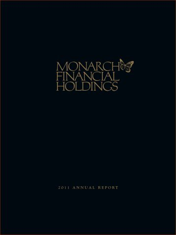 2011 ANNUAL REPORT - Monarch Bank