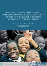 audit of prevention programmes targeting substance use among ...