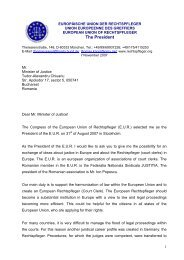 Letter of Thomas Kappl to the Romanian Minister of Justice