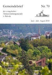 Liebe Kinder - Evangelische Trinitatiskirchengemeinde Marburg ...
