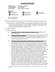Minutes of the May 6, 2013 Executive Committee meeting