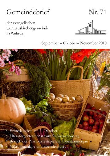 Nr. 71: September - Oktober - November 2010 - Evangelische ...